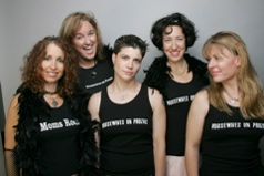 My dearest friends and sisters in song: Jane Getter, Gillian Crane, Donna Kelly, Kyleann Burtt, and Suzie Greist