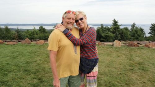 Carl Hovey and Joy Rose in Maine, at 'Food Is Love Farm'