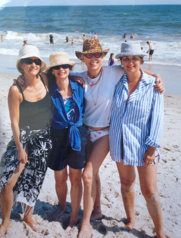 Amy Weinstein, Donna Lewis, Joy Rose, and Barbara Glickstein take Fire Island #TheSummerOfLoveTour