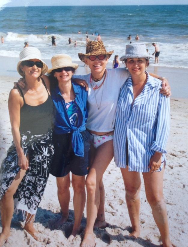 Amy Weinstein, Donna Lewis, Joy Rose, and Barbara Glickstein take Fire Island #TheSummerOfLoveTour