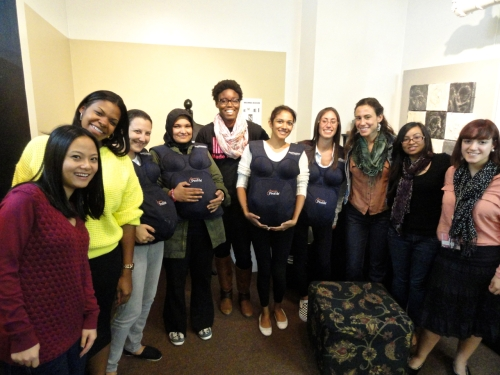 Dr. Athan's, Mother Matrix Students, Columbia Teachers College, participating  in Mother Studies workshop taught by  Joy Rose at the Museum of Motherhood