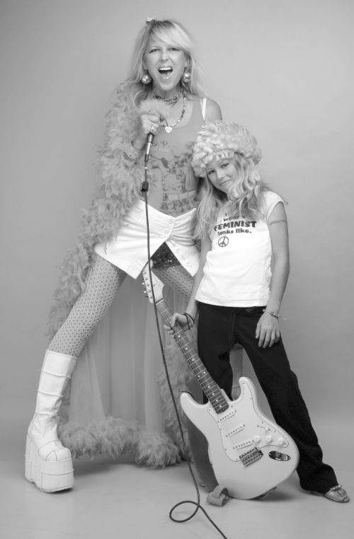 Mom Rocker, Joy Rose with Zena