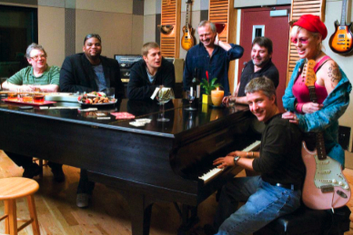 Joy Rose, Rob Thomas, Hal Weinstein, Mick Guzauski and others at Bi Coastal Music