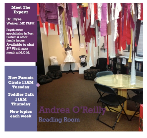 Andrea O'Reilly Reading Room at the Museum of Motherhood, NYC
