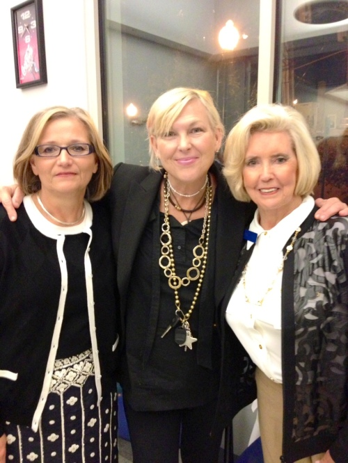 Lilly Ledbetter (right), Joy Rose (center) and Lilly's daughter (left) at the National Women's Hall of Fame induction ceremonies, 2013