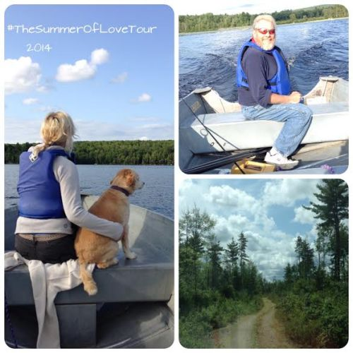 Carl and Joy Rose - Boating at Great Pond