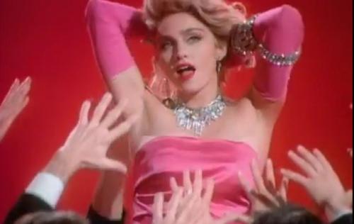 Screen shot Madonna, Material Girl video 1984